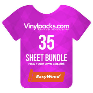 Siser EasyWeed HTV 35 Sheet Bundle