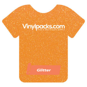 Neon Orange Glitter Heat Transfer Vinyl HTV